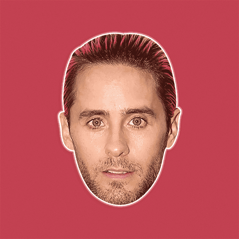Cool Jared Leto Mask - Perfect for Halloween, Costume Party Mask, Masquerades, Parties, Festivals, Concerts - Jumbo Size Waterproof Laminated Mask
