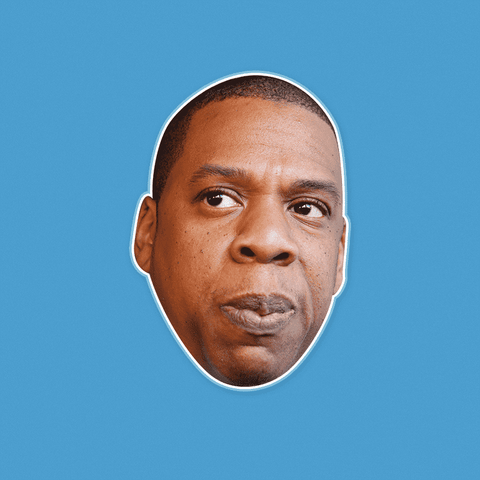 Concerned Jay-Z Mask - Perfect for Halloween, Costume Party Mask, Masquerades, Parties, Festivals, Concerts - Jumbo Size Waterproof Laminated Mask