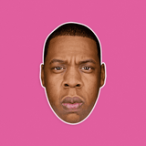 Grumpy Jay-Z Mask - Perfect for Halloween, Costume Party Mask, Masquerades, Parties, Festivals, Concerts - Jumbo Size Waterproof Laminated Mask