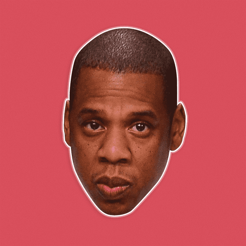 Sad Jay-Z Mask - Perfect for Halloween, Costume Party Mask, Masquerades, Parties, Festivals, Concerts - Jumbo Size Waterproof Laminated Mask