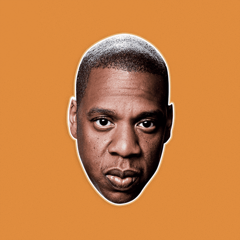 Serious Jay-Z Mask - Perfect for Halloween, Costume Party Mask, Masquerades, Parties, Festivals, Concerts - Jumbo Size Waterproof Laminated Mask