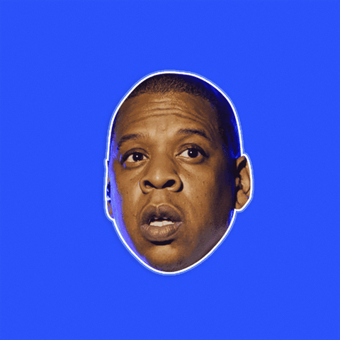 Unsure Jay-Z Mask - Perfect for Halloween, Costume Party Mask, Masquerades, Parties, Festivals, Concerts - Jumbo Size Waterproof Laminated Mask