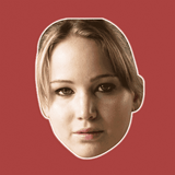 Neutral Jennifer Lawrence Mask - Perfect for Halloween, Costume Party Mask, Masquerades, Parties, Festivals, Concerts - Jumbo Size Waterproof Laminated Mask
