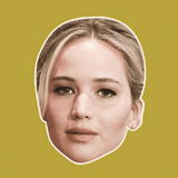 Sad Jennifer Lawrence Mask - Perfect for Halloween, Costume Party Mask, Masquerades, Parties, Festivals, Concerts - Jumbo Size Waterproof Laminated Mask
