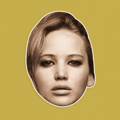 Sexy Jennifer Lawrence Mask - Perfect for Halloween, Costume Party Mask, Masquerades, Parties, Festivals, Concerts - Jumbo Size Waterproof Laminated Mask