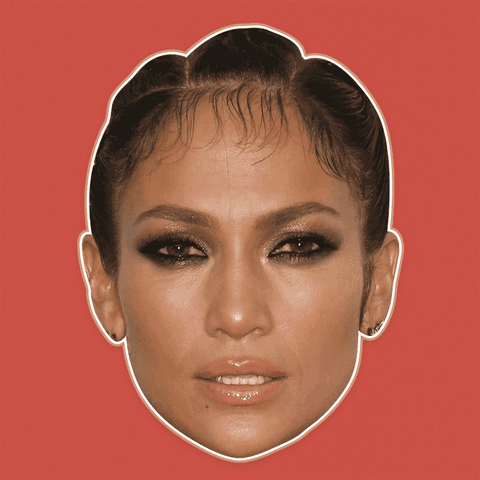 Angry Jennifer Lopez Mask - Perfect for Halloween, Costume Party Mask, Masquerades, Parties, Festivals, Concerts - Jumbo Size Waterproof Laminated Mask
