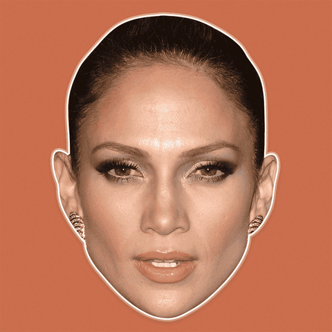 Confused Jennifer Lopez Mask - Perfect for Halloween, Costume Party Mask, Masquerades, Parties, Festivals, Concerts - Jumbo Size Waterproof Laminated Mask