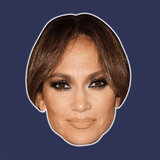 Cool Jennifer Lopez Mask - Perfect for Halloween, Costume Party Mask, Masquerades, Parties, Festivals, Concerts - Jumbo Size Waterproof Laminated Mask