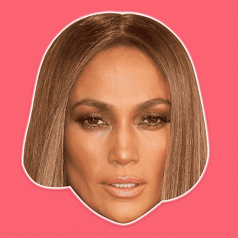 Disgusted Jennifer Lopez Mask - Perfect for Halloween, Costume Party Mask, Masquerades, Parties, Festivals, Concerts - Jumbo Size Waterproof Laminated Mask