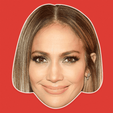Happy Jennifer Lopez Mask - Perfect for Halloween, Costume Party Mask, Masquerades, Parties, Festivals, Concerts - Jumbo Size Waterproof Laminated Mask