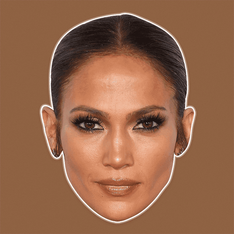 Sexy Jennifer Lopez Mask - Perfect for Halloween, Costume Party Mask, Masquerades, Parties, Festivals, Concerts - Jumbo Size Waterproof Laminated Mask