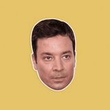 Confused Jimmy Fallon Mask - Perfect for Halloween, Costume Party Mask, Masquerades, Parties, Festivals, Concerts - Jumbo Size Waterproof Laminated Mask