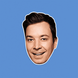 Happy Jimmy Fallon Mask - Perfect for Halloween, Costume Party Mask, Masquerades, Parties, Festivals, Concerts - Jumbo Size Waterproof Laminated Mask