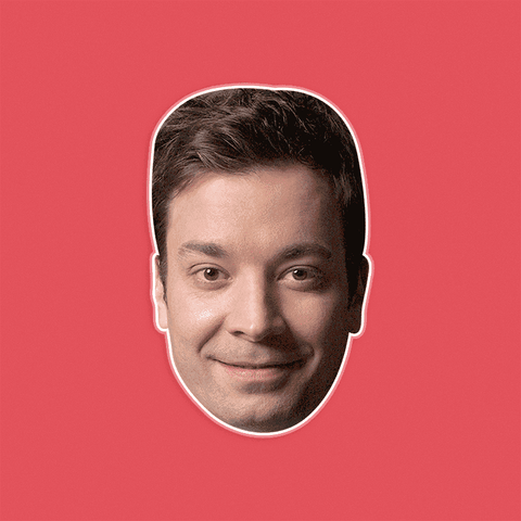 Neutral Jimmy Fallon Mask - Perfect for Halloween, Costume Party Mask, Masquerades, Parties, Festivals, Concerts - Jumbo Size Waterproof Laminated Mask