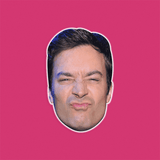 Silly Jimmy Fallon Mask - Perfect for Halloween, Costume Party Mask, Masquerades, Parties, Festivals, Concerts - Jumbo Size Waterproof Laminated Mask