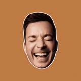 Surprised Jimmy Fallon Mask - Perfect for Halloween, Costume Party Mask, Masquerades, Parties, Festivals, Concerts - Jumbo Size Waterproof Laminated Mask