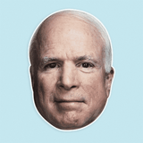 Cool John McCain Mask - Perfect for Halloween, Costume Party Mask, Masquerades, Parties, Festivals, Concerts - Jumbo Size Waterproof Laminated Mask