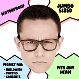 Angry Joseph Gordon Levitt Mask - Perfect for Halloween, Costume Party Mask, Masquerades, Parties, Festivals, Concerts - Jumbo Size Waterproof Laminated Mask