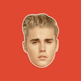 Neutral Justin Bieber Mask - Perfect for Halloween, Costume Party Mask, Masquerades, Parties, Festivals, Concerts - Jumbo Size Waterproof Laminated Mask
