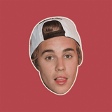Surprised Justin Bieber Mask - Perfect for Halloween, Costume Party Mask, Masquerades, Parties, Festivals, Concerts - Jumbo Size Waterproof Laminated Mask