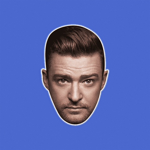 Confused Justin Timberlake Mask by RapMasks