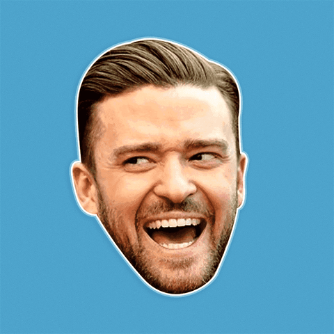 Surprised Justin Timberlake Mask - Perfect for Halloween, Costume Party Mask, Masquerades, Parties, Festivals, Concerts - Jumbo Size Waterproof Laminated Mask