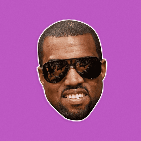Happy Smiling Kanye West Mask - Perfect for Halloween, Costume Party Mask, Masquerades, Parties, Festivals, Concerts - Jumbo Size Waterproof Laminated Mask