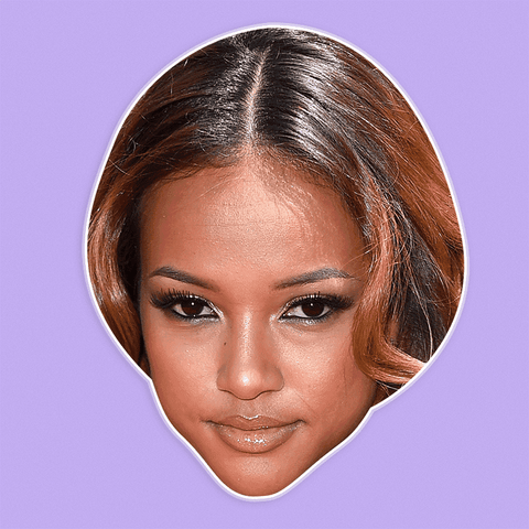 Bored Karrueche Tran Mask - Perfect for Halloween, Costume Party Mask, Masquerades, Parties, Festivals, Concerts - Jumbo Size Waterproof Laminated Mask