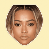 Sad Karrueche Tran Mask - Perfect for Halloween, Costume Party Mask, Masquerades, Parties, Festivals, Concerts - Jumbo Size Waterproof Laminated Mask