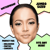 Confused Karrueche Tran Mask - Perfect for Halloween, Costume Party Mask, Masquerades, Parties, Festivals, Concerts - Jumbo Size Waterproof Laminated Mask