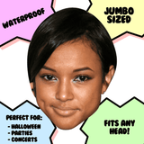 Disgusted Karrueche Tran Mask - Perfect for Halloween, Costume Party Mask, Masquerades, Parties, Festivals, Concerts - Jumbo Size Waterproof Laminated Mask