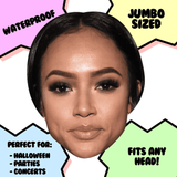 Serious Karrueche Tran Mask - Perfect for Halloween, Costume Party Mask, Masquerades, Parties, Festivals, Concerts - Jumbo Size Waterproof Laminated Mask