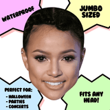 Sexy Karrueche Tran Mask - Perfect for Halloween, Costume Party Mask, Masquerades, Parties, Festivals, Concerts - Jumbo Size Waterproof Laminated Mask