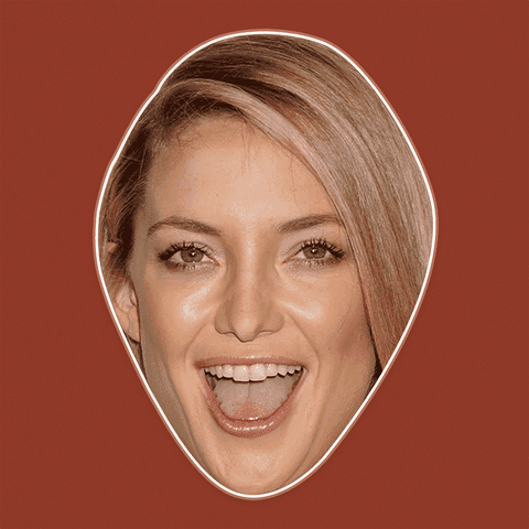Excited Kate Hudson Mask - Perfect for Halloween, Costume Party Mask, Masquerades, Parties, Festivals, Concerts - Jumbo Size Waterproof Laminated Mask