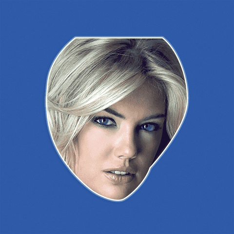 Cool Kate Upton Mask - Perfect for Halloween, Costume Party Mask, Masquerades, Parties, Festivals, Concerts - Jumbo Size Waterproof Laminated Mask