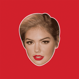 Serious Kate Upton Mask - Perfect for Halloween, Costume Party Mask, Masquerades, Parties, Festivals, Concerts - Jumbo Size Waterproof Laminated Mask
