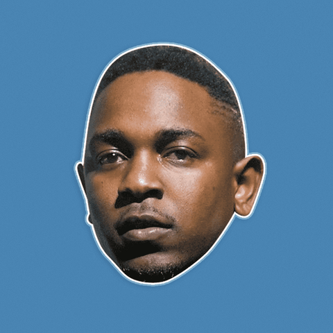Serious Kendrick Lamar Mask - Perfect for Halloween, Costume Party Mask, Masquerades, Parties, Festivals, Concerts - Jumbo Size Waterproof Laminated Mask