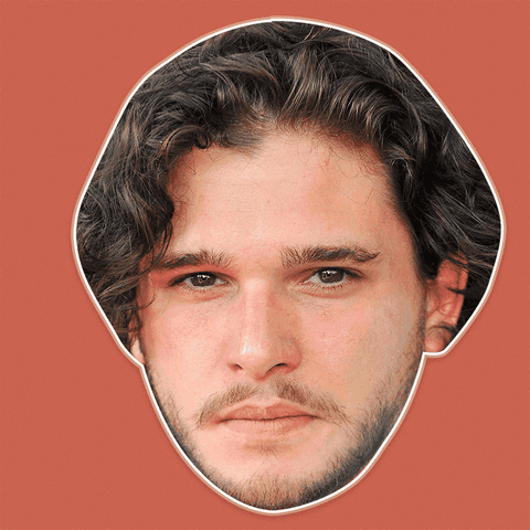 Neutral Kit Harington Mask - Perfect for Halloween, Costume Party Mask, Masquerades, Parties, Festivals, Concerts - Jumbo Size Waterproof Laminated Mask