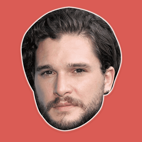 Serious Kit Harington Mask - Perfect for Halloween, Costume Party Mask, Masquerades, Parties, Festivals, Concerts - Jumbo Size Waterproof Laminated Mask