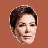 Angry Kris Jenner Mask - Perfect for Halloween, Costume Party Mask, Masquerades, Parties, Festivals, Concerts - Jumbo Size Waterproof Laminated Mask
