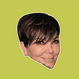 Cool Kris Jenner Mask - Perfect for Halloween, Costume Party Mask, Masquerades, Parties, Festivals, Concerts - Jumbo Size Waterproof Laminated Mask