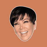 Excited Kris Jenner Mask - Perfect for Halloween, Costume Party Mask, Masquerades, Parties, Festivals, Concerts - Jumbo Size Waterproof Laminated Mask