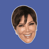 Happy Kris Jenner Mask - Perfect for Halloween, Costume Party Mask, Masquerades, Parties, Festivals, Concerts - Jumbo Size Waterproof Laminated Mask