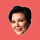 Neutral Kris Jenner Mask - Perfect for Halloween, Costume Party Mask, Masquerades, Parties, Festivals, Concerts - Jumbo Size Waterproof Laminated Mask
