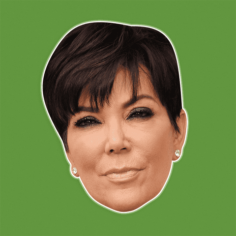Serious Kris Jenner Mask - Perfect for Halloween, Costume Party Mask, Masquerades, Parties, Festivals, Concerts - Jumbo Size Waterproof Laminated Mask