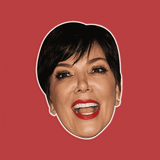 Surprised Kris Jenner Mask - Perfect for Halloween, Costume Party Mask, Masquerades, Parties, Festivals, Concerts - Jumbo Size Waterproof Laminated Mask