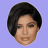 Bored Kylie Jenner Mask - Perfect for Halloween, Costume Party Mask, Masquerades, Parties, Festivals, Concerts - Jumbo Size Waterproof Laminated Mask