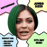 Surprised Kylie Jenner Mask - Perfect for Halloween, Costume Party Mask, Masquerades, Parties, Festivals, Concerts - Jumbo Size Waterproof Laminated Mask
