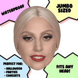 Cool Lady Gaga Mask - Perfect for Halloween, Costume Party Mask, Masquerades, Parties, Festivals, Concerts - Jumbo Size Waterproof Laminated Mask