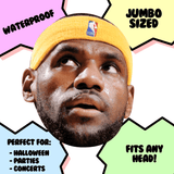 Confused LeBron James Mask - Perfect for Halloween, Costume Party Mask, Masquerades, Parties, Festivals, Concerts - Jumbo Size Waterproof Laminated Mask